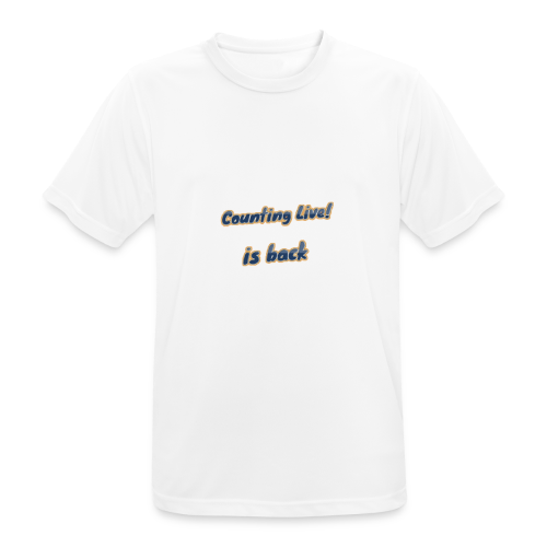 Counting Live Sport - mannen T-shirt ademend