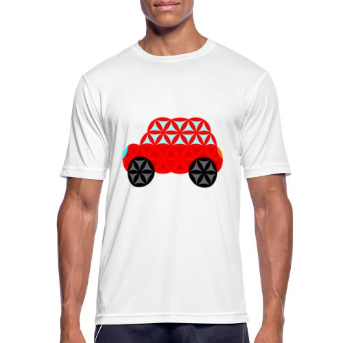 The Car Of Life - M01, Sacred Shapes, Red/R01. - Men's Breathable T-Shirt