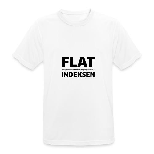 Jeg legger meg flat - Pustende T-skjorte for menn