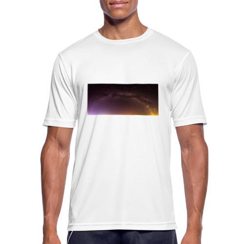 Milchstraße Panorama - Männer T-Shirt atmungsaktiv