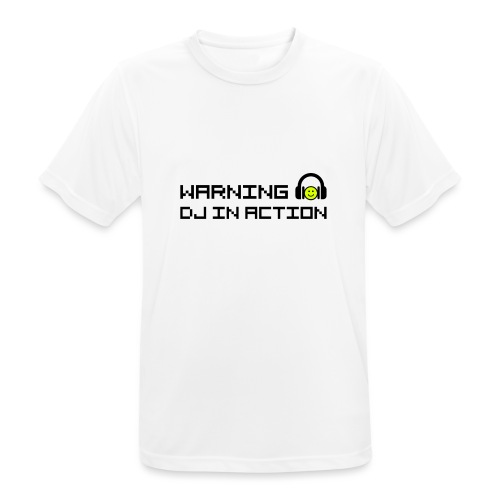 Warning DJ in Action - Mannen T-shirt ademend