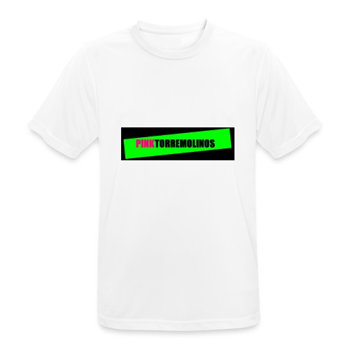 pinklogo - Mannen T-shirt ademend actief