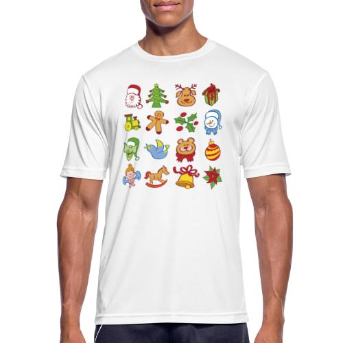 Traditional Christmas characters and symbols - Men's Breathable T-Shirt