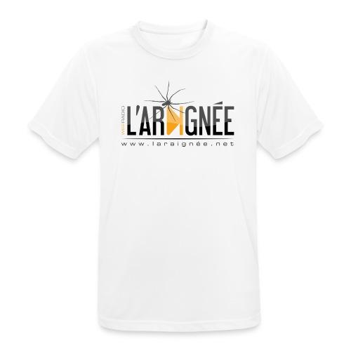 L'ARAIGNÉE, logo noir - T-shirt respirant Homme