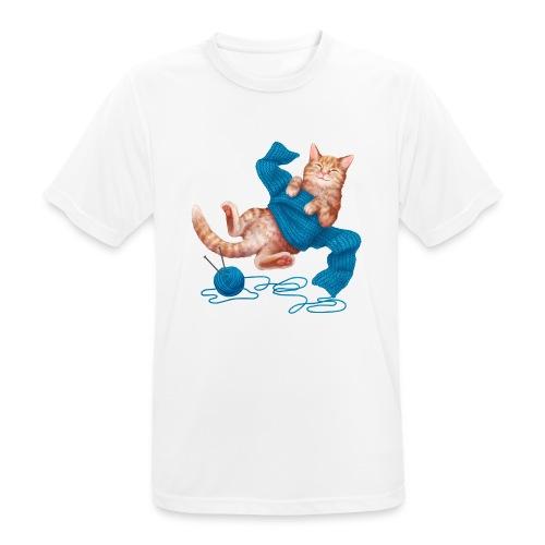 Cozy Cat - Männer T-Shirt atmungsaktiv