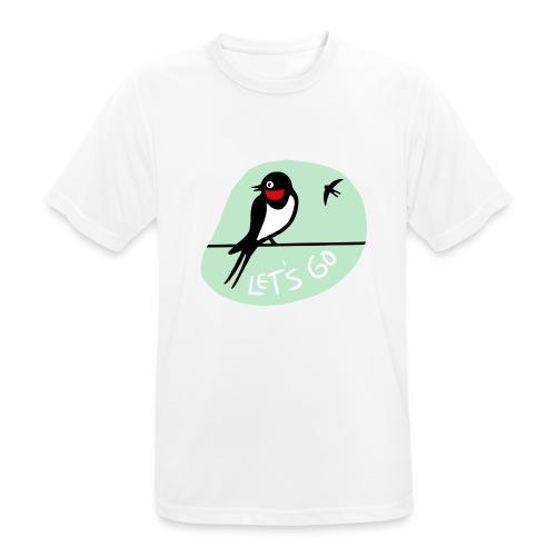 Pääsky- let's go - miesten tekninen t-paita