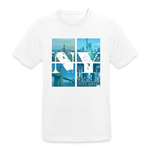 NEW YORK BLUE - Männer T-Shirt atmungsaktiv