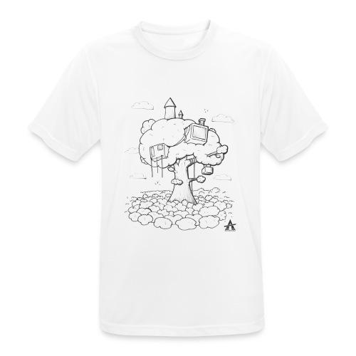 Cabane dans un arbre Sketch Line - T-shirt respirant Homme