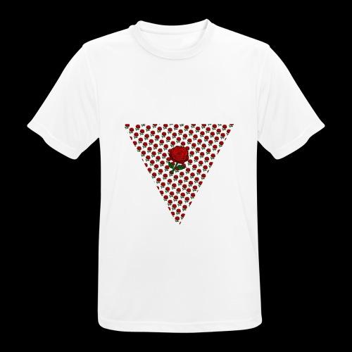 Dreieck Rose - Männer T-Shirt atmungsaktiv