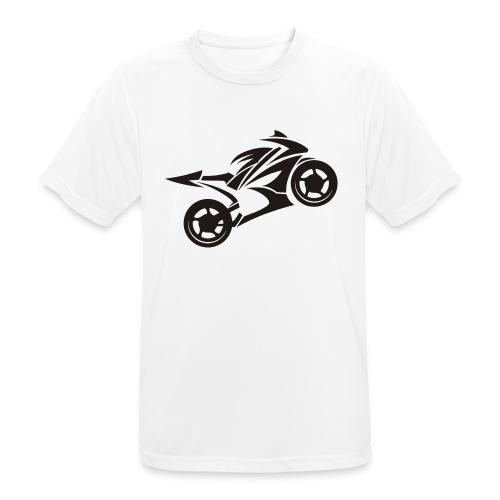 Motorcycle Wheelie - Männer T-Shirt atmungsaktiv