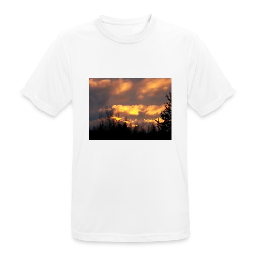 Iltarusko - miesten tekninen t-paita