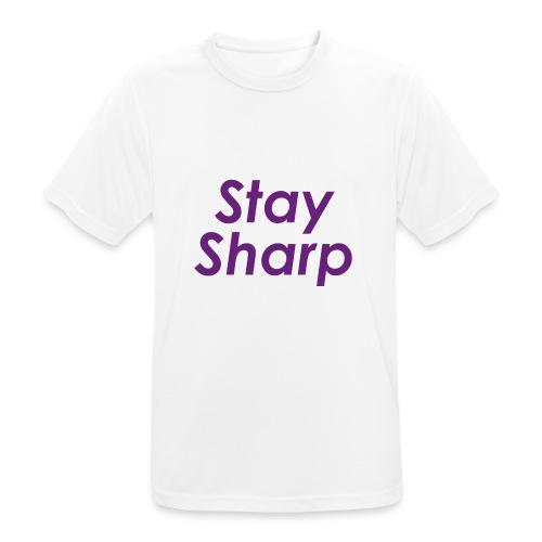 Stay Sharp - Maglietta da uomo traspirante