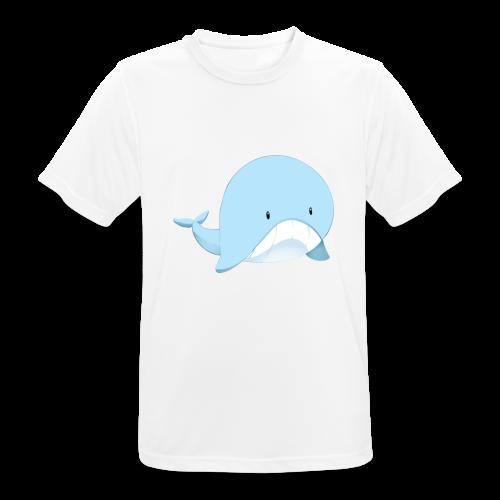Whale - Maglietta da uomo traspirante