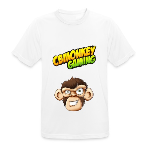 CBMonkey Logo fw png - Men's Breathable T-Shirt