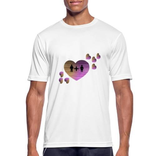 couple amoureux - T-shirt respirant Homme