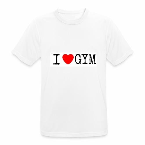 LOVE GYM - Maglietta da uomo traspirante