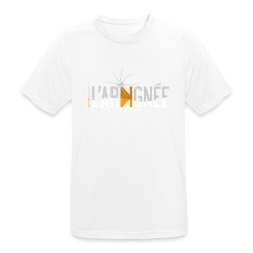 L'Araignée, le logo clair pour fond foncés - T-shirt respirant Homme