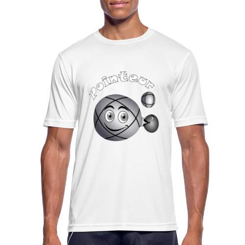 t shirt pétanque pointeur boule existe en tireur B - T-shirt respirant Homme