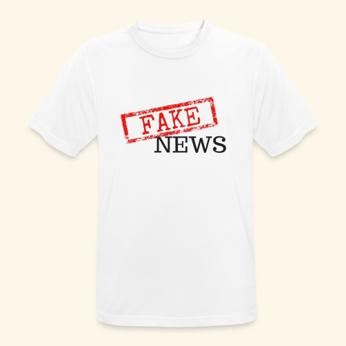 fake news - Men's Breathable T-Shirt