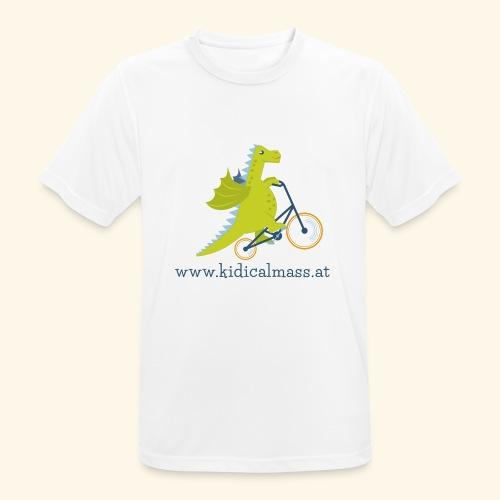 Musikdrache für hellen Hintergrund - Männer T-Shirt atmungsaktiv