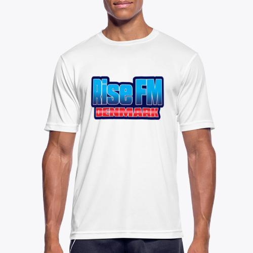 Rise FM Denmark Text Only Logo - Herre T-shirt svedtransporterende