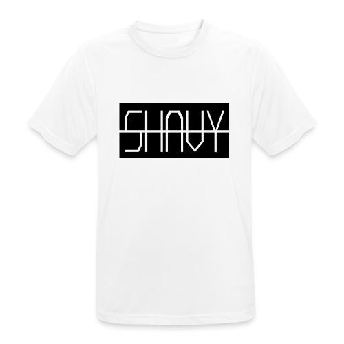 Shavy Rechteck Design black - Männer T-Shirt atmungsaktiv