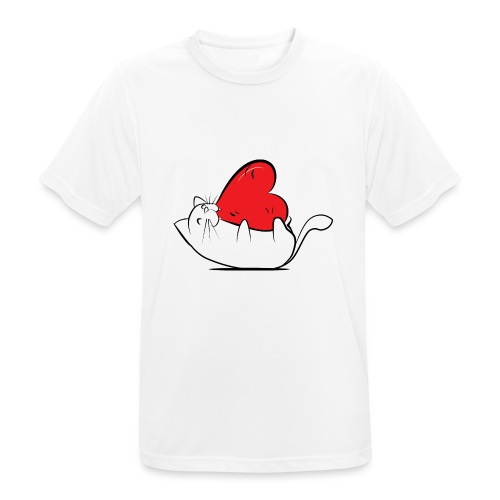 Cat Love - Mannen T-shirt ademend actief