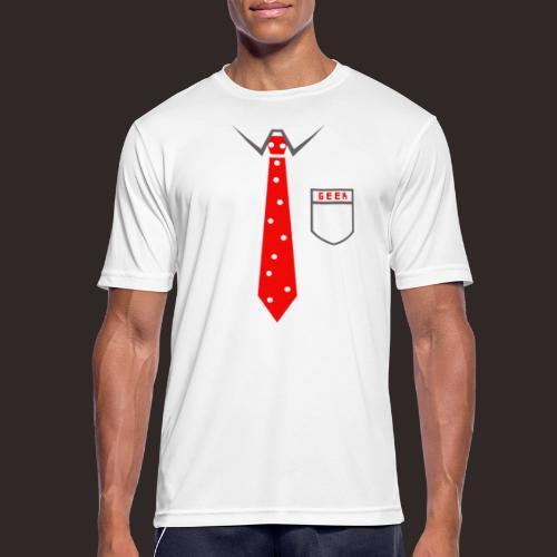 Geek | Schlips Krawatte Wissenschaft Streber - Männer T-Shirt atmungsaktiv