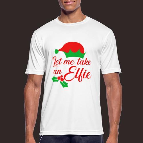 Weihnachten | Elf Mütze Weihnachtself Wortspiel - Männer T-Shirt atmungsaktiv