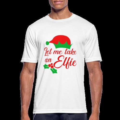 Weihnachten   Elf Mütze Weihnachtself Wortspiel - Männer T-Shirt atmungsaktiv