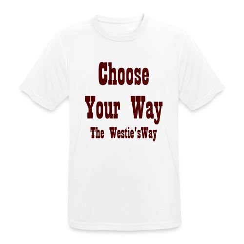 Choose Your Way Brown - Koszulka męska oddychająca
