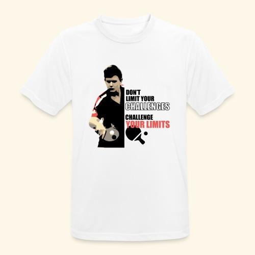 Don't limit your challenge, challenge your limit - Männer T-Shirt atmungsaktiv