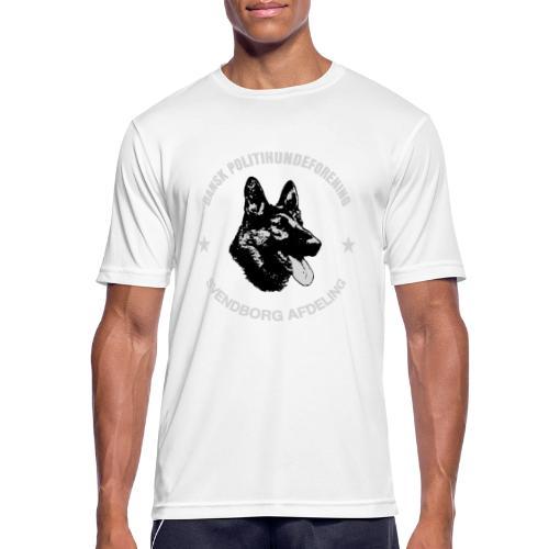 Svendborg PH hvid skrift - Herre T-shirt svedtransporterende
