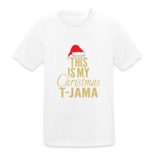 This is my christmas t jama gold 01 - Maglietta da uomo traspirante