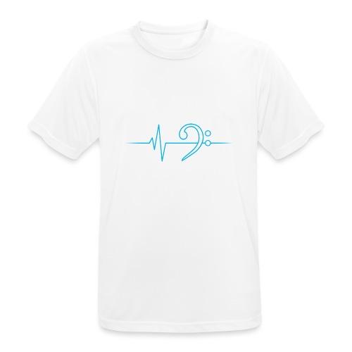 LowHeartBeat cyan - Männer T-Shirt atmungsaktiv