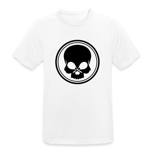 skull on white png - Männer T-Shirt atmungsaktiv