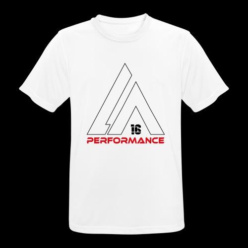 LA Performamce black/red - Männer T-Shirt atmungsaktiv