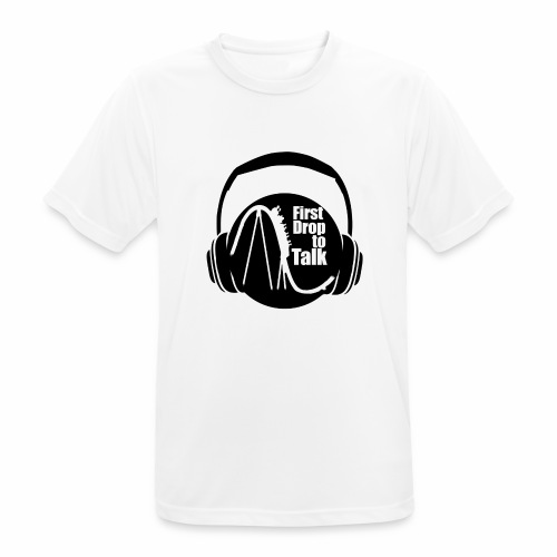 First Drop to Talk Logo - Männer T-Shirt atmungsaktiv