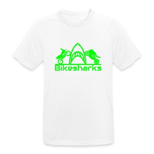 Bikesharkslogo Grün - Männer T-Shirt atmungsaktiv