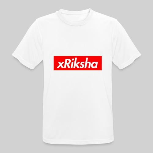 xRiksha - Box logo - miesten tekninen t-paita