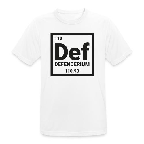DEFENDERIUM BLACK - mannen T-shirt ademend
