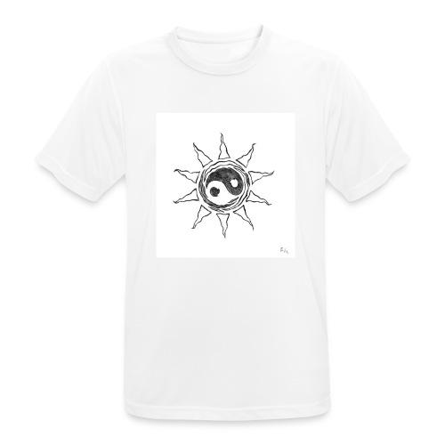 sole yin yang - Maglietta da uomo traspirante