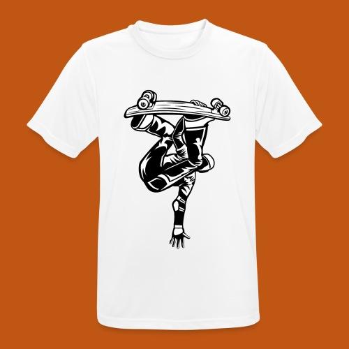 Skater / Skateboarder 03_schwarz weiß - Männer T-Shirt atmungsaktiv