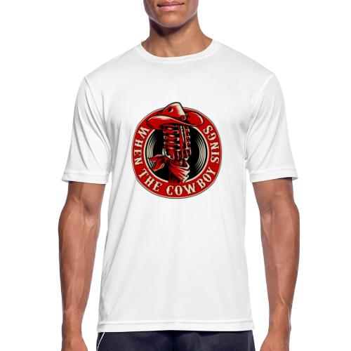 Logo when the cowboy sings - Camiseta hombre transpirable