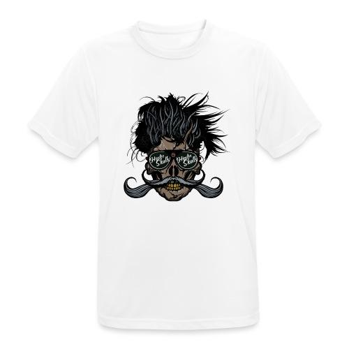 hipster skull tete de mort crane barbu moustache - T-shirt respirant Homme