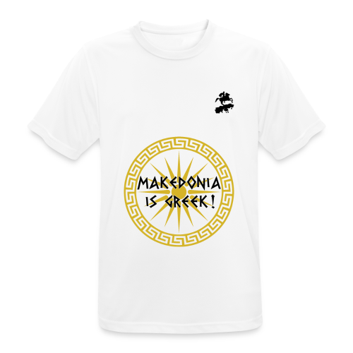 Makedonia is Greek! - Men's Breathable T-Shirt