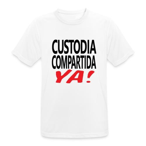 Custodia Compartida YA Negro - Camiseta hombre transpirable