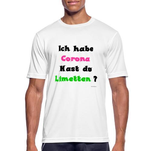Corona Limetten - Männer T-Shirt atmungsaktiv