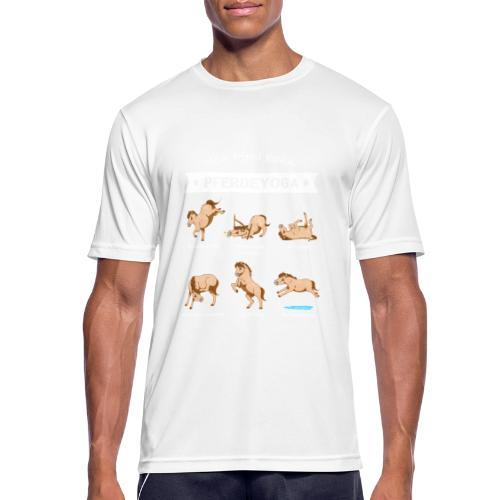 Pferdeyoga - Männer T-Shirt atmungsaktiv