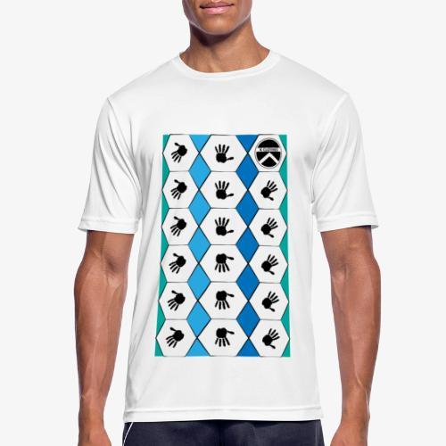 |K·CLOTHES| HEXAGON ESSENCE BLUES & WHITE - Camiseta hombre transpirable